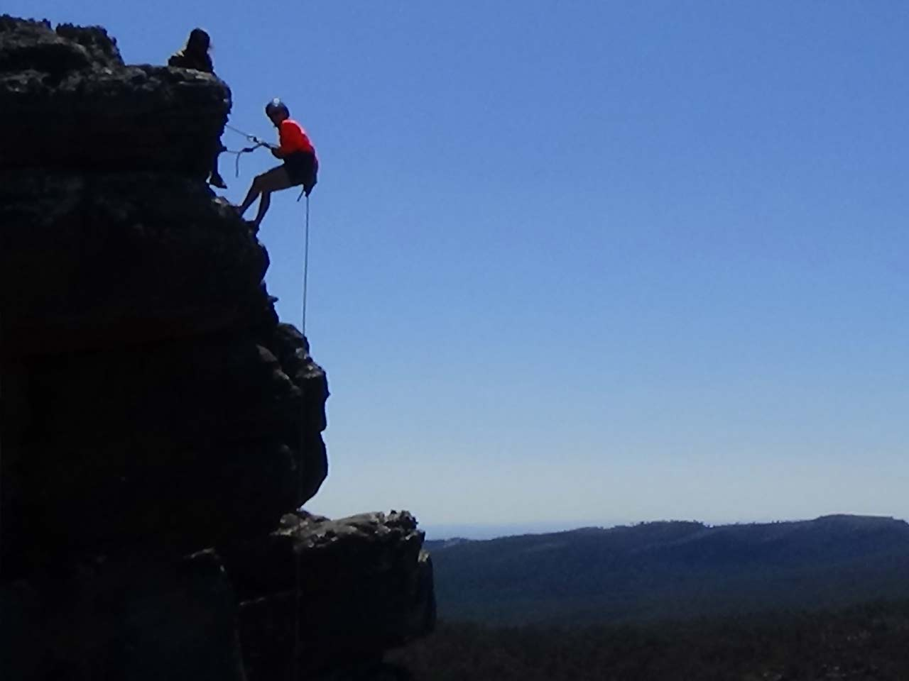 Outdoor rock climbing Grampians